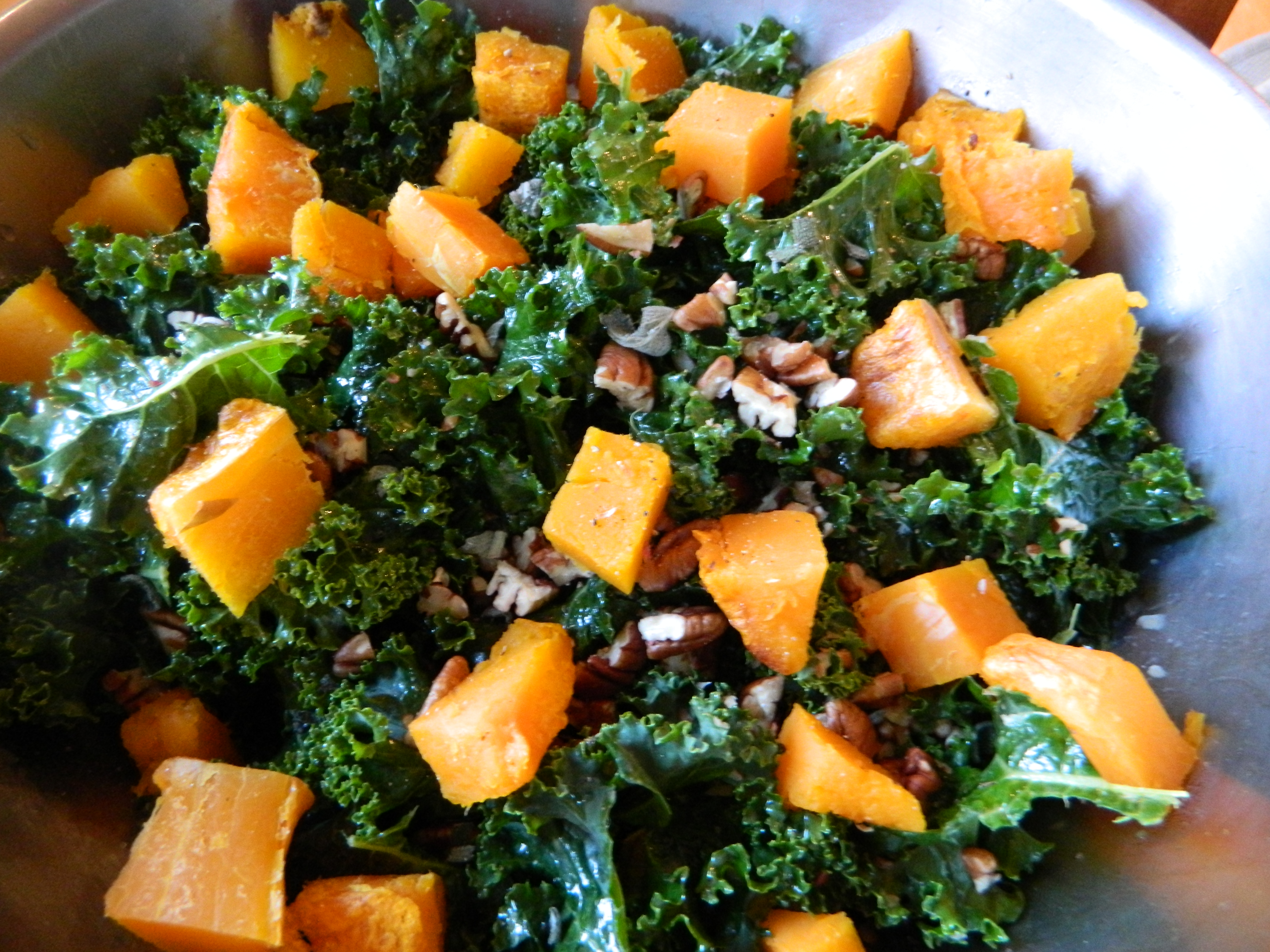 Kale + Sweet Potato Salad with Maple-Basil Dressing - Simply Real ...
