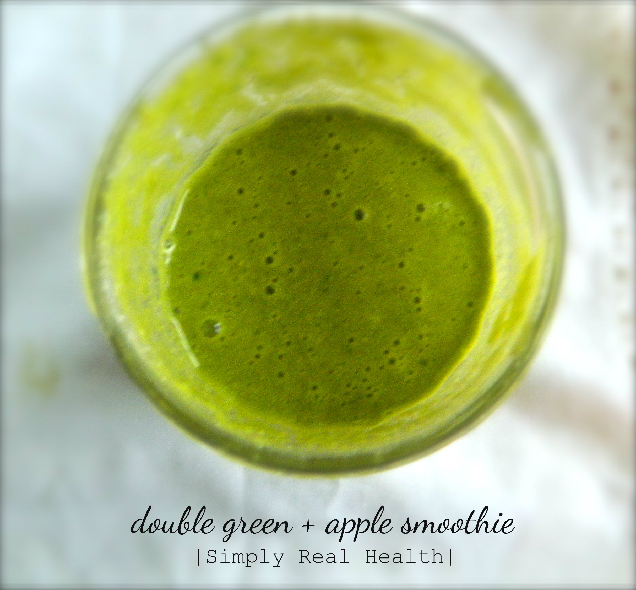 double green + apple smoothie | simply real health |