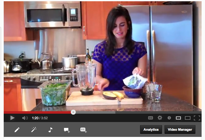 Green Smoothie Making On Video | simply real health |