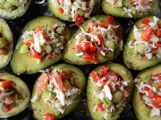 Grapefruit-Crab Stuffed Avocados | Simply Real Health |