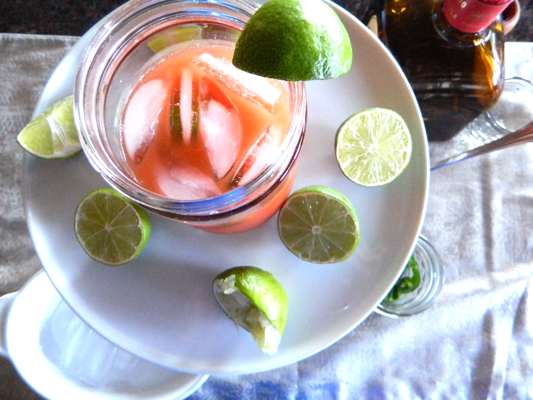 ... juice with lime that you juice yourself or buy pre made in a fresh