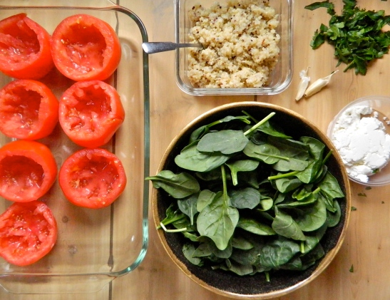 Ingredients: Quinoa Stuffed Tomatoes // Simply Real Health //