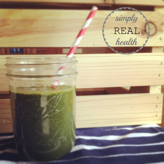 Blackberry Basil [Green] Smoothie from Simply Real Health