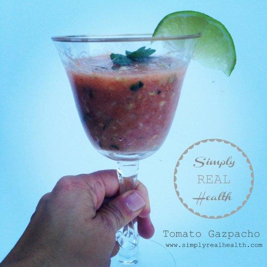 Tomato Gazpacho via Simply Real Health