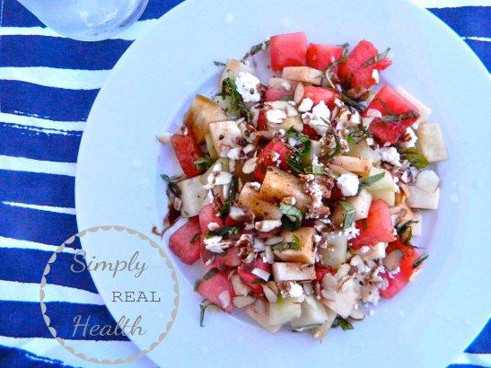 Jicama Watermelon Salad // Simply Real Health //
