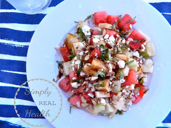 Jicama Watermelon Salad // Simply Real Health //