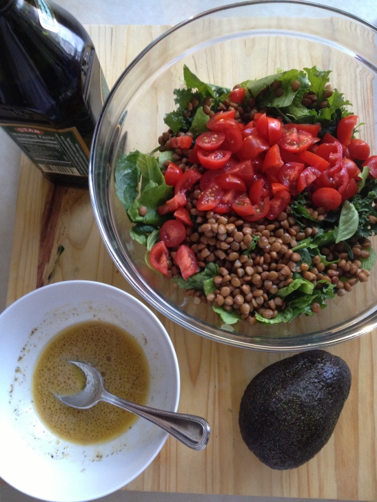 Sarah's Lentil Garden Salad // simply real health //