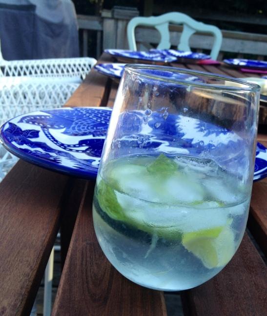 Basil-Cucumber G+T's via Simply Real Health