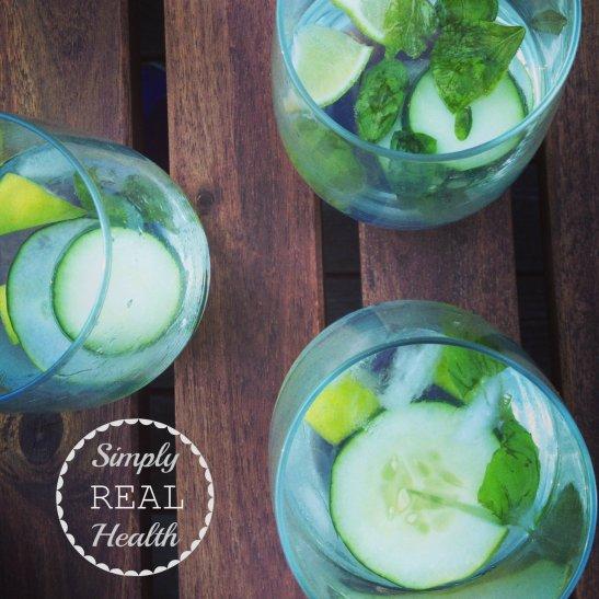 Cucumber-Basil G+T's via Simply Real Health
