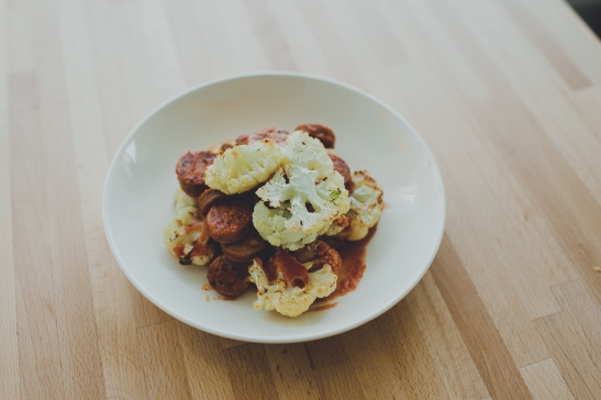 Summer Meal Plan via Simply Real Health: Cauliflower Steaks with Italian Sausage