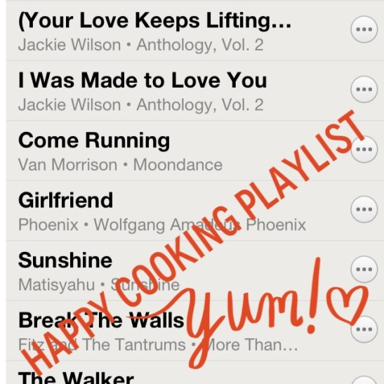 Sarah's Fall Fav's: The Short List: Happy Cooking Playlist