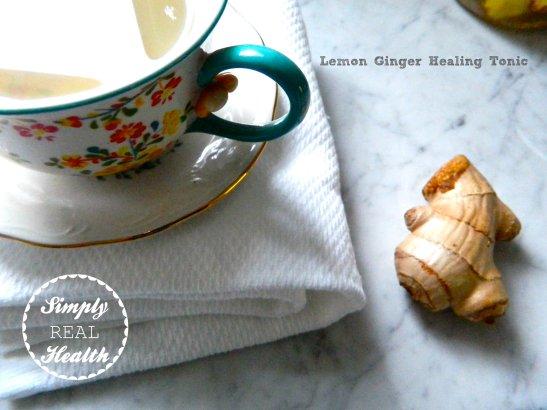 Lemon Ginger Healing Tonic