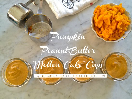 Pumpkin Peanut Butter Molten Cake Cups // Simply Real Health