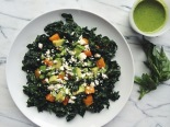 Kale, Feta, Avocado + Roasted Butternut Squash Salad. Photo credit: Ashley Marti of Local Haven