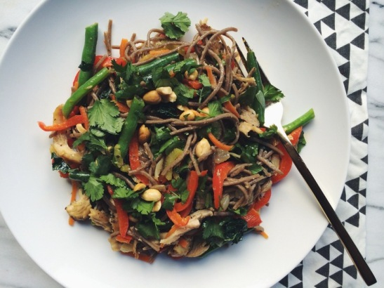 Thai Soba Noodle Stir Fry Bowls {photo credit: Local Haven}