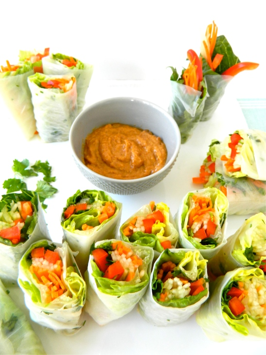Fresh Spring Rolls from the spring meal plan via Simply Real Health