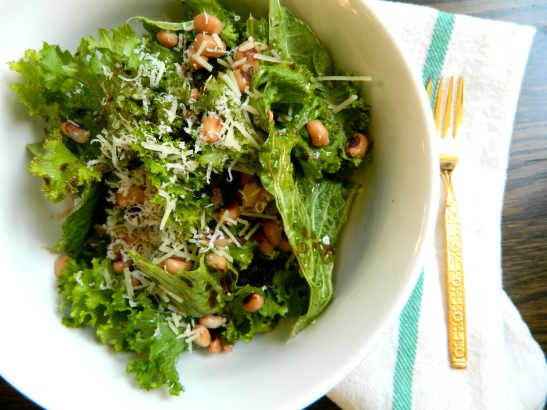 Mustard Greens + Black Eyed Pea Salad / Spring Meal Plan via Simply Real Health