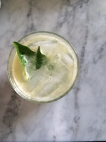 Meyer Lemon + Basil Refresher via Simply Real Health