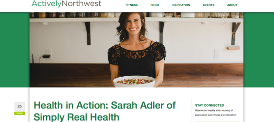 Actively Northwest Interview of Simply Real Health