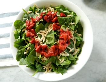 Roasted Strawberry Salad via Simply Real Health