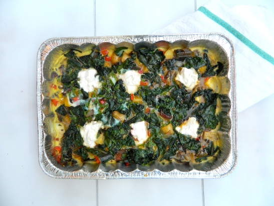 On Love + Family: Egg, Potato + Veggie Bake via Simply Real Health